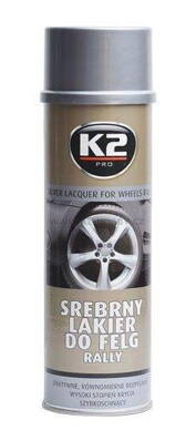 K2 SILVER LACQUER FOR WHEELS RALLY 500 ml - stříbrný lak na kola
